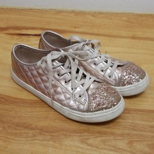 😍CHILDRENS PLACE RISE GOLD GLITTER SHOES, GIRLS 4